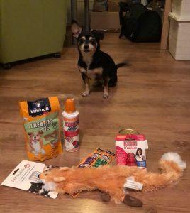 Lola met al haar cadeautjes