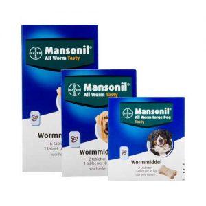 verpakking mansonil tabletten