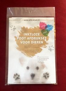 Foto van de afdrukset voor dieren