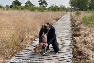 Materiaal van de fotograaf met hond