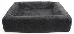 Bia bed fleece overtrek hondenmand grijs