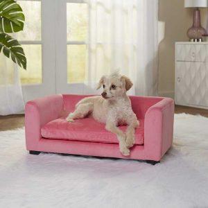 Hondenbank Cookie Sofa Roze