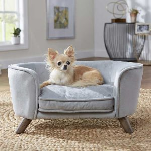 Hondenbank Romy Sofa Grijs met hond