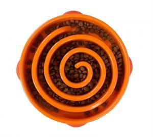 Slo-bowl feeder coral oranje