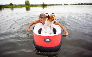 Fit worden met behulp van je hond!   Suppen/Paddleboarden